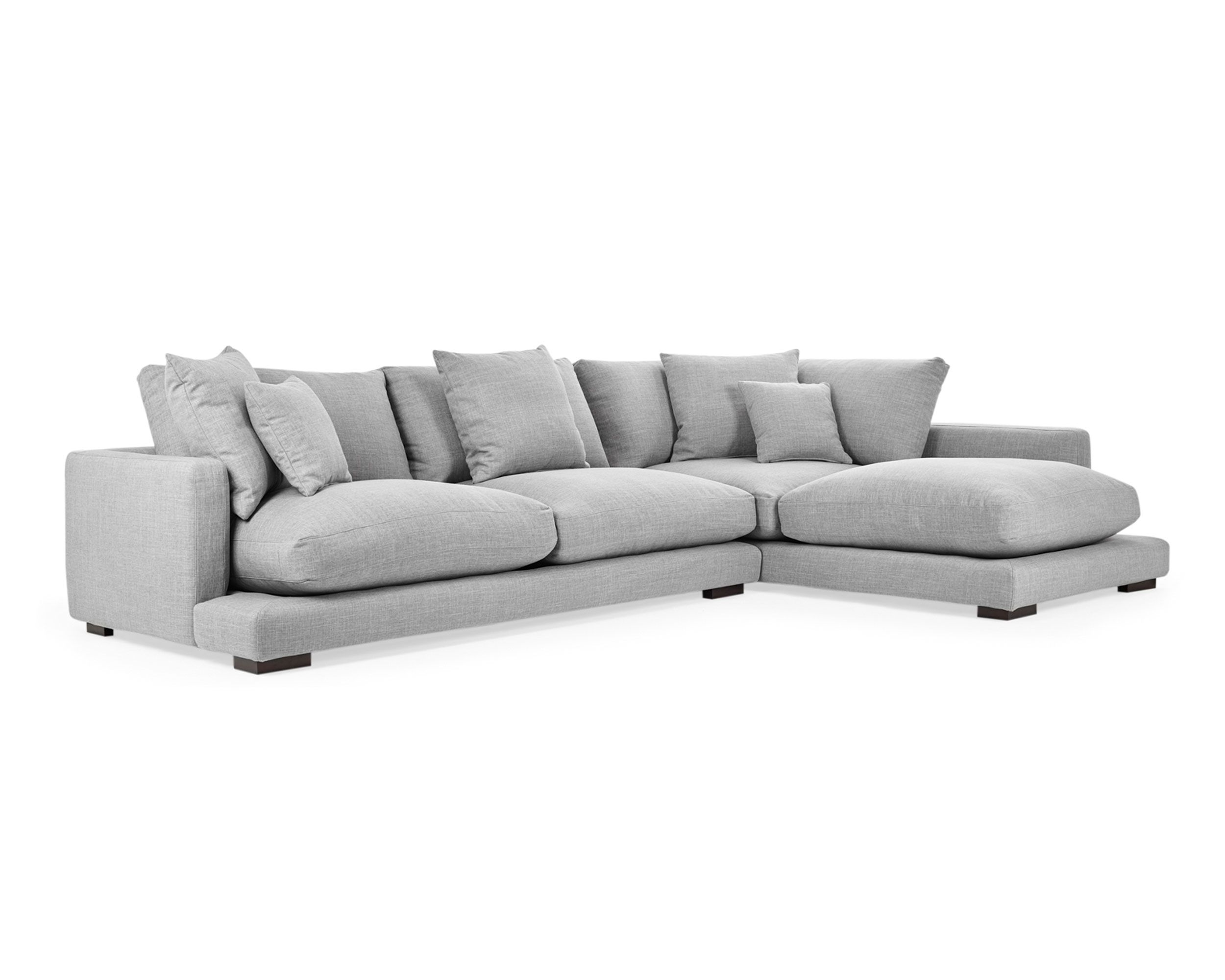 Our Long Beach Sofa Creates An Alluring Look In Spacious Lounge Rooms. The  Generous 3 Seat Modular U0026 Chaise Is Substantially Deeper And More Plush  Than Simi