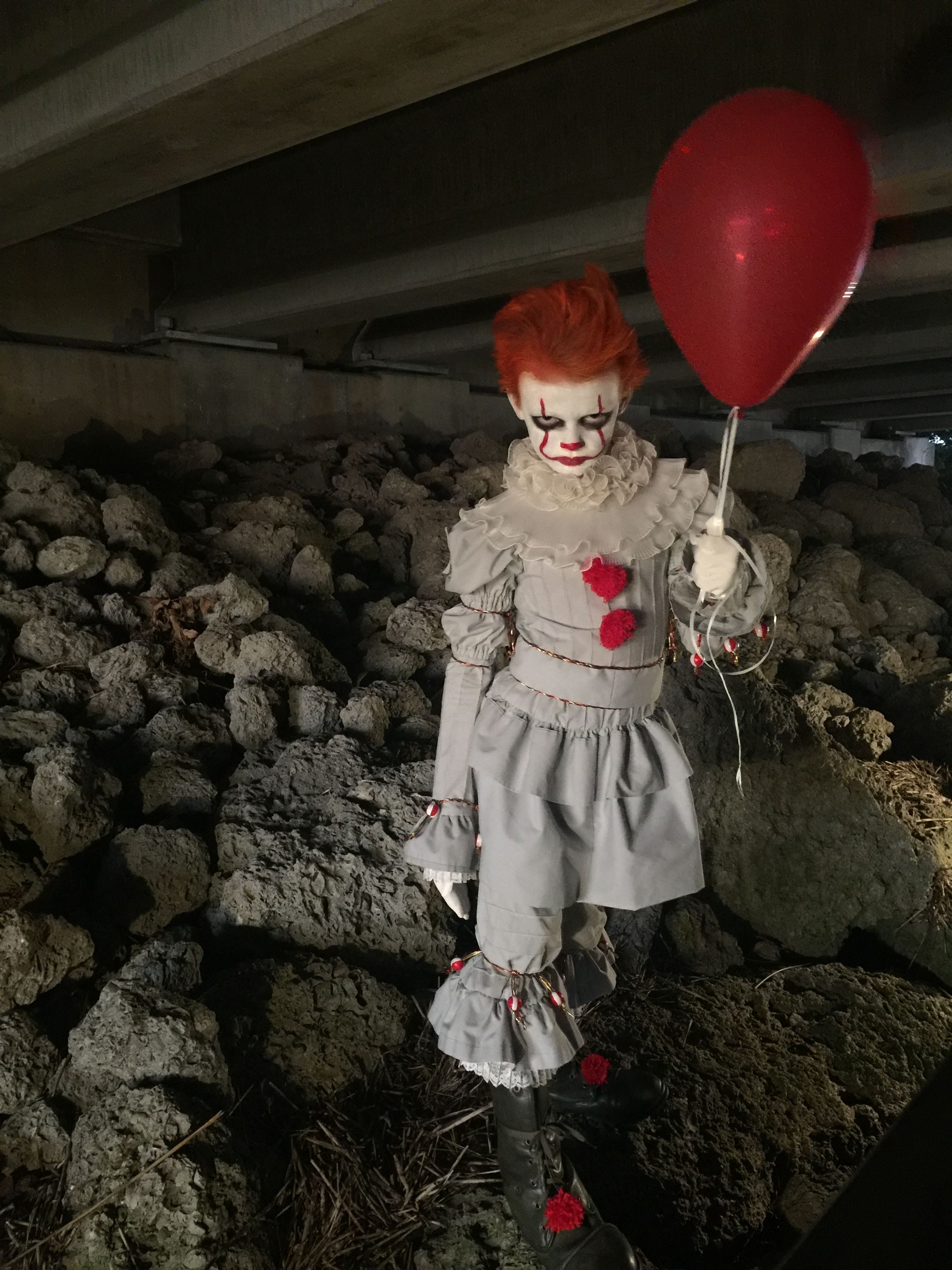 I made this Pennywise costume for my nephew. His mother