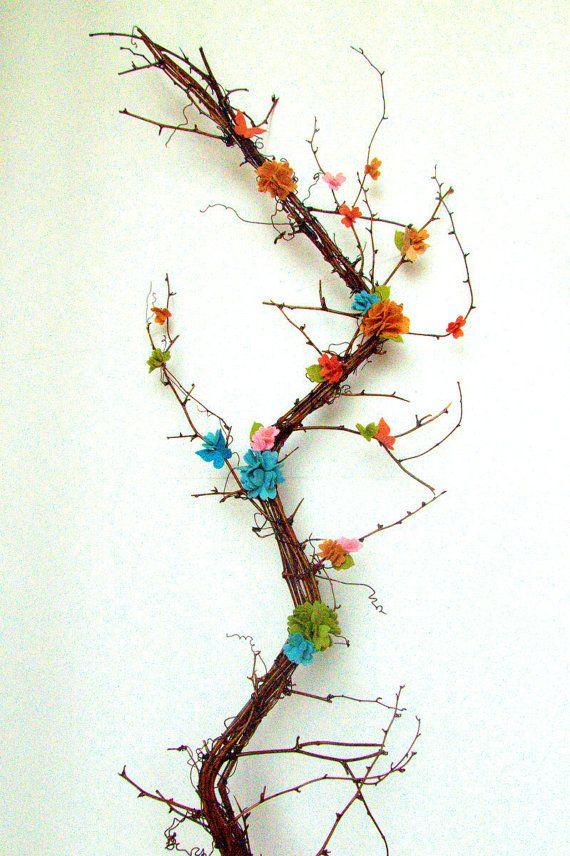 Felt Flower Wreath  Woodland Flowers and by Sweetlittleblossoms, $45.00
