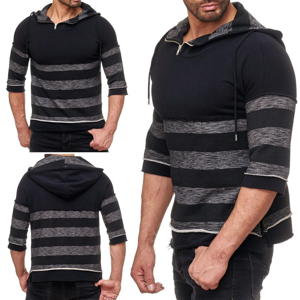 cfa2b307543a44 Redbridge Herren T-Shirt Pullover Designer Strickpullover Hoodie Halbarm  Kapuze Red Bridge Herren Asymmetrical Special Designer RBC Sweat  Kapuzenpullover ...