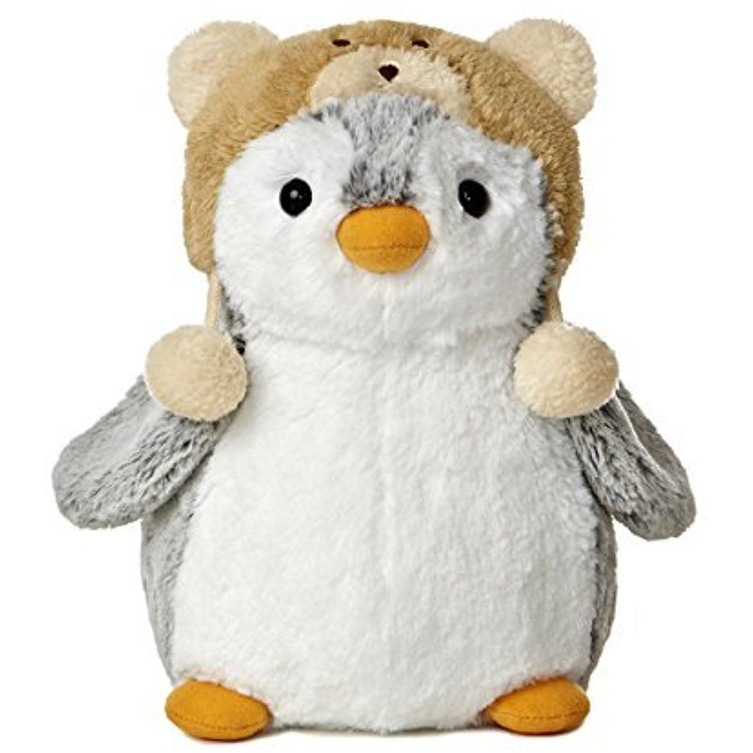 Pompom 9 Penguin Plush With Blue Hat From Aurora World Continue