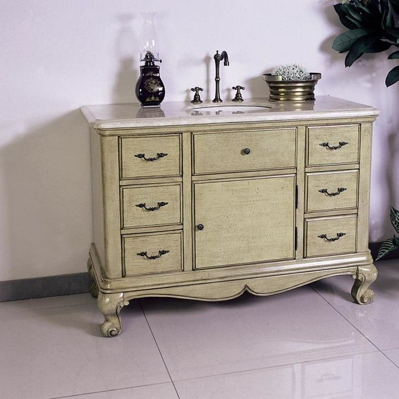 "48"" Single Chest Bathroom Vanity Set"