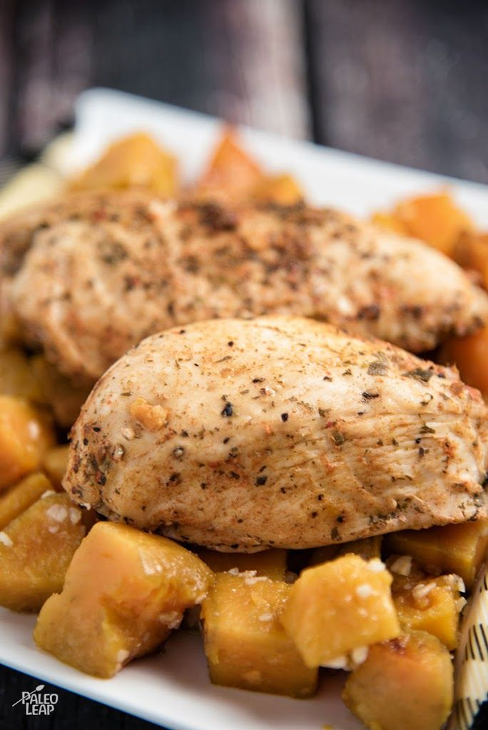 Chicken With Garlic-Roasted Sweet Potatoes Recipe on Yummly. @yummly #recipe