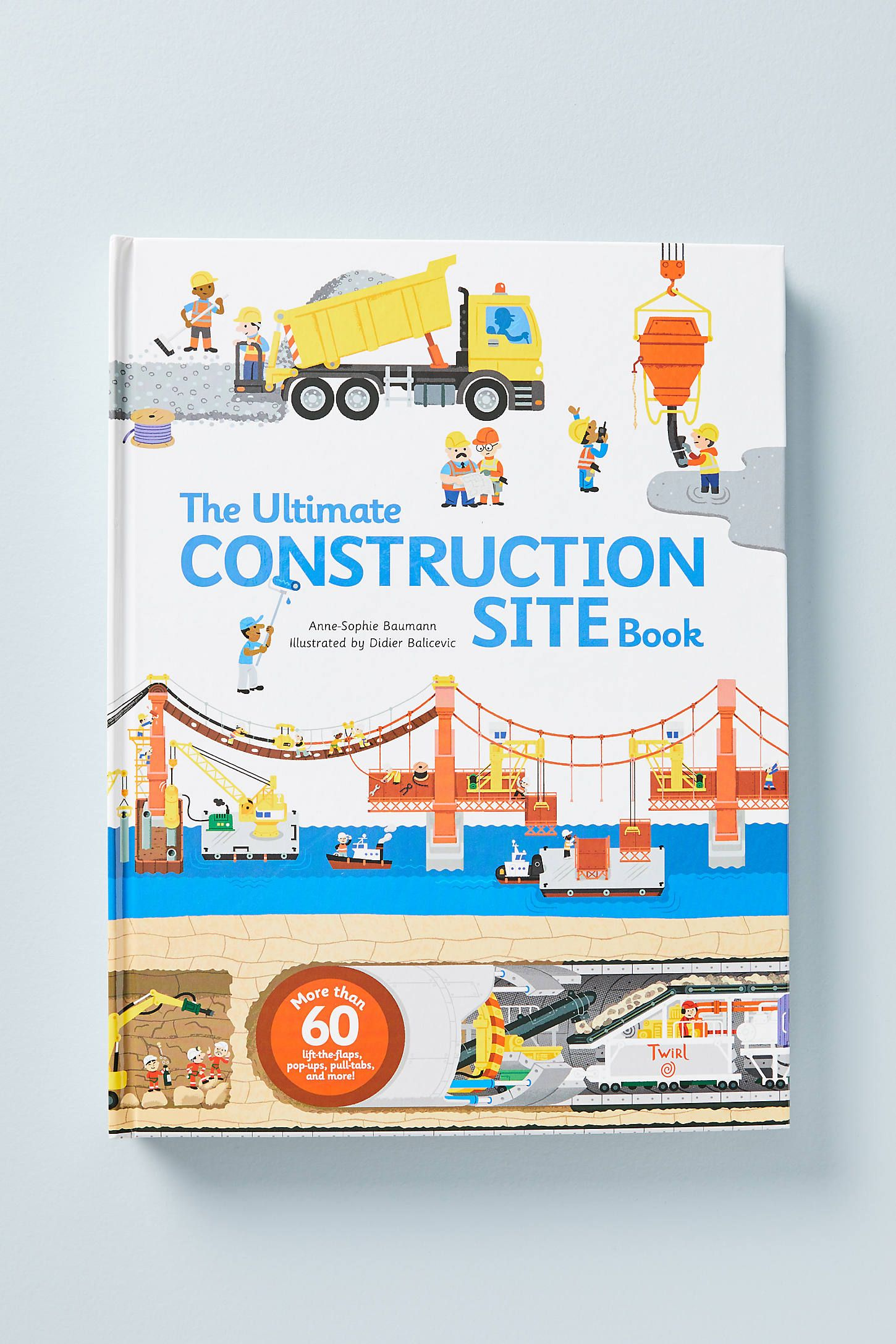The Ultimate Construction Site Book by Anthropologie in White, Books