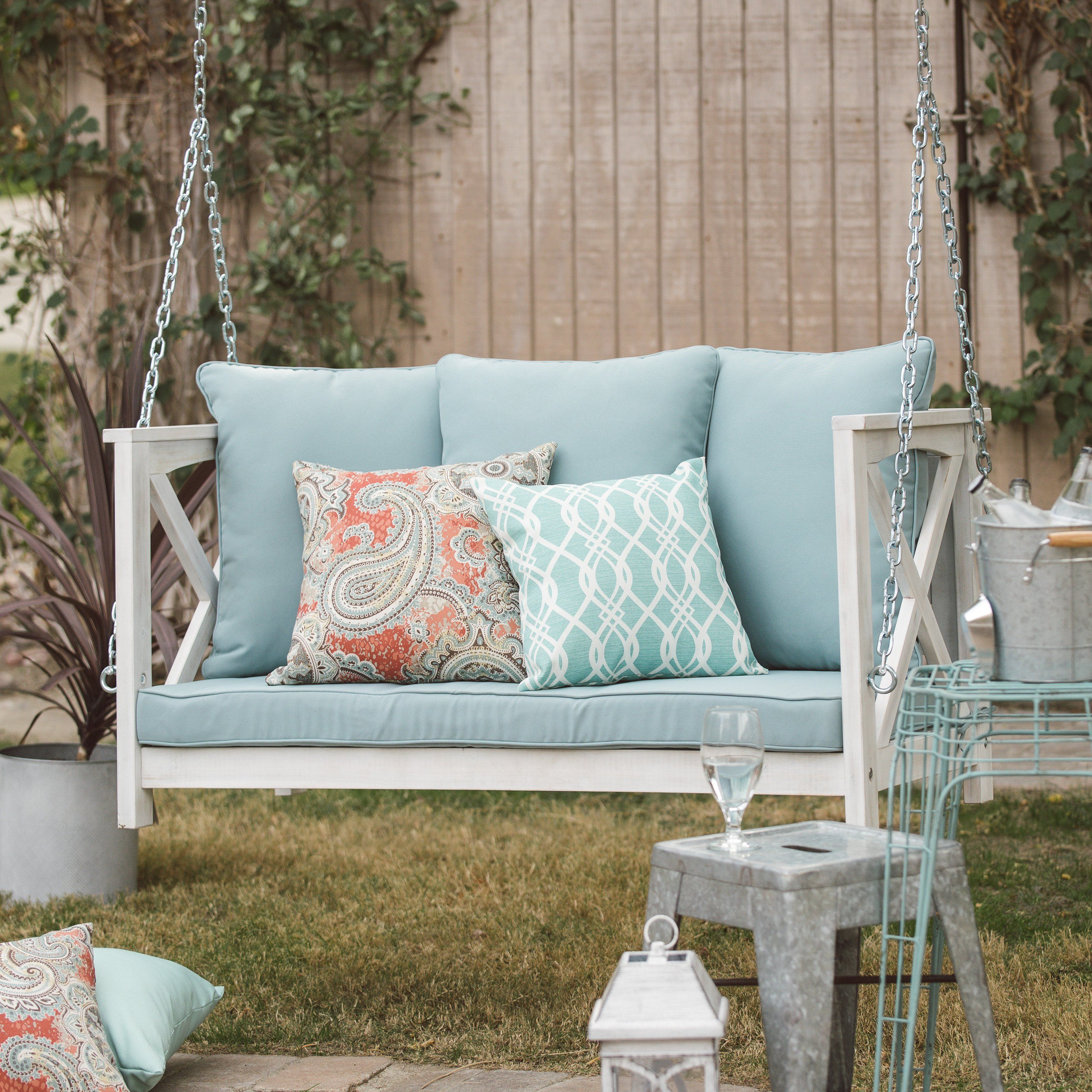 Coral coast delanie rose ft porch swing with cushion from
