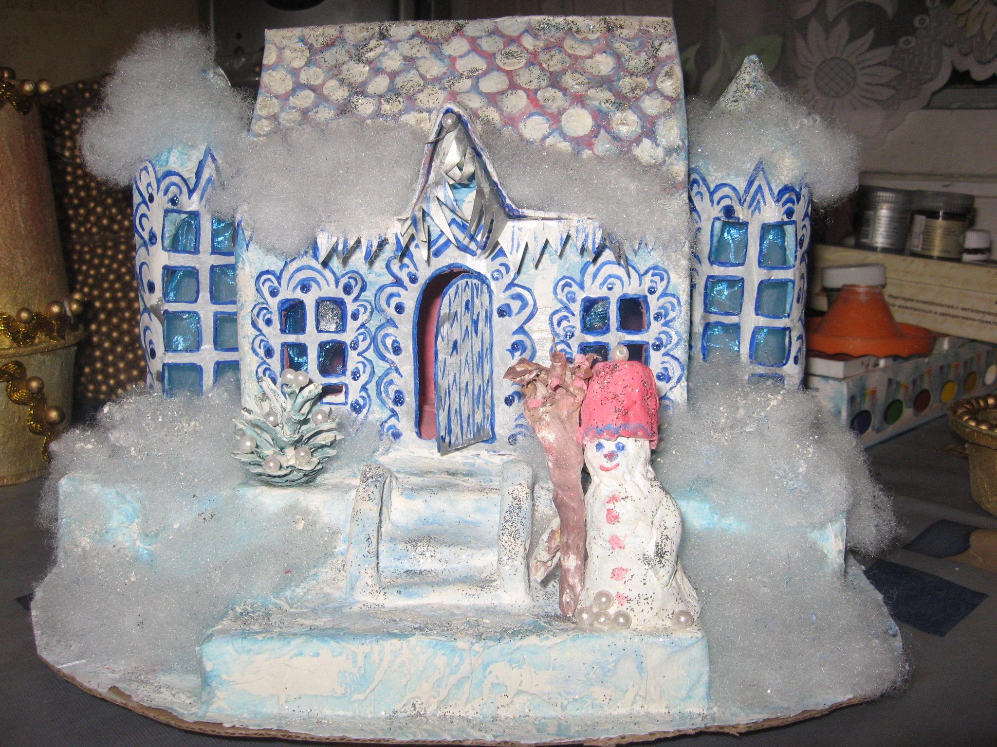 Domik Deda Moroza Gingerbread House Gingerbread Miniatures