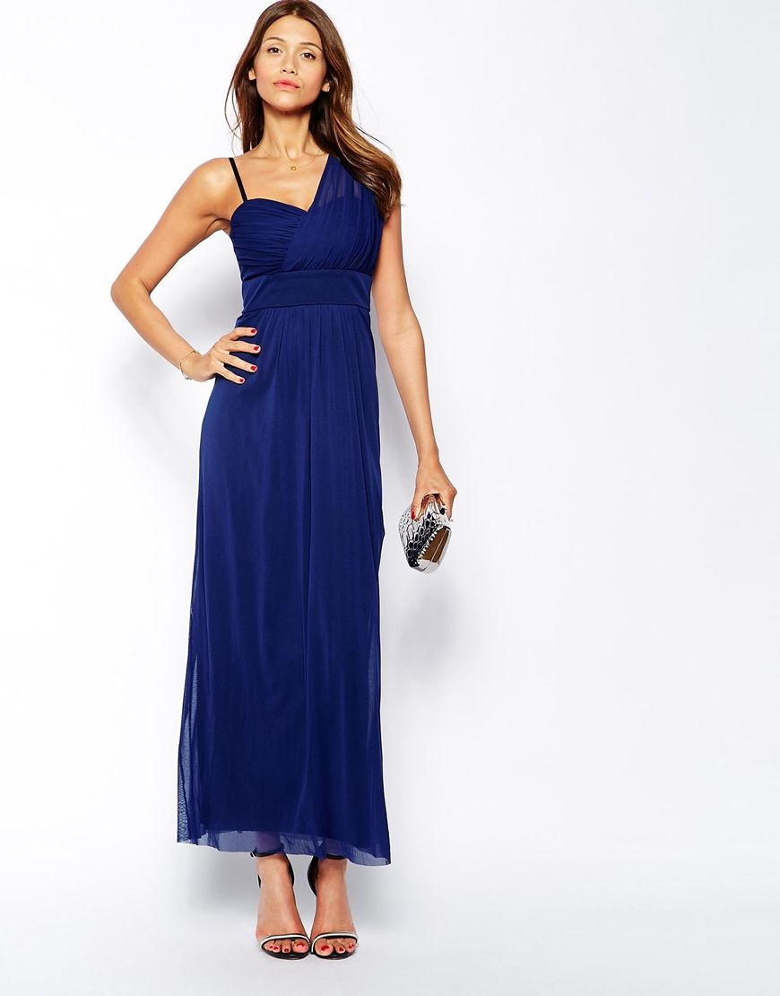 Image 4 of Elise Ryan Maxi Dress With One Shoulder