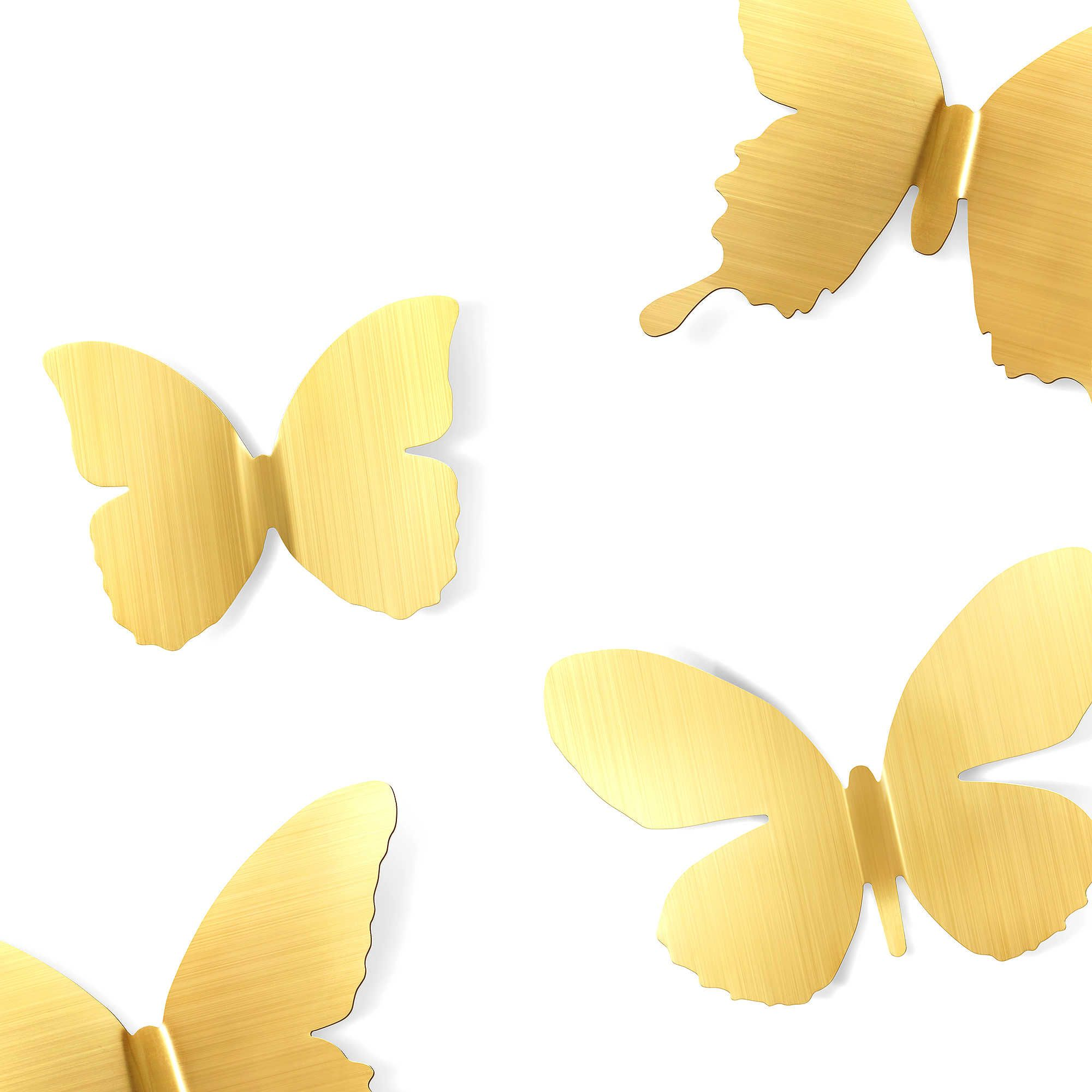 Stamped Metal Mariposa Butterfly Wall Decals (Set of 9) | Safari ...