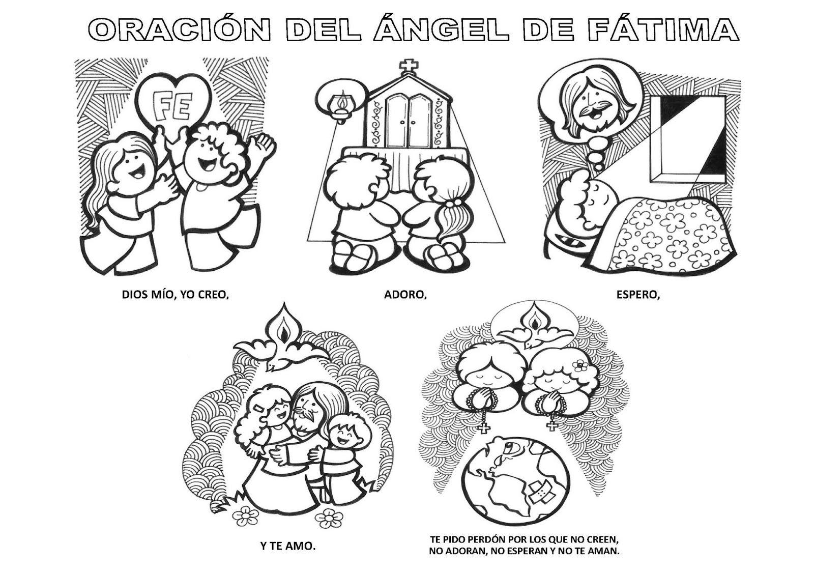 Catequesis Primera Unia N El Credo Para Colorear Espagnol: La Catequesis: Recursos Catequesis Virgen De Fátima