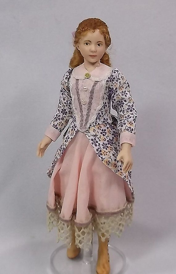 Miniature Dollhouse Doll In 1 12 Scale Victorian Or Edwardian Girl Dollhouse Dolls Doll House Dolls