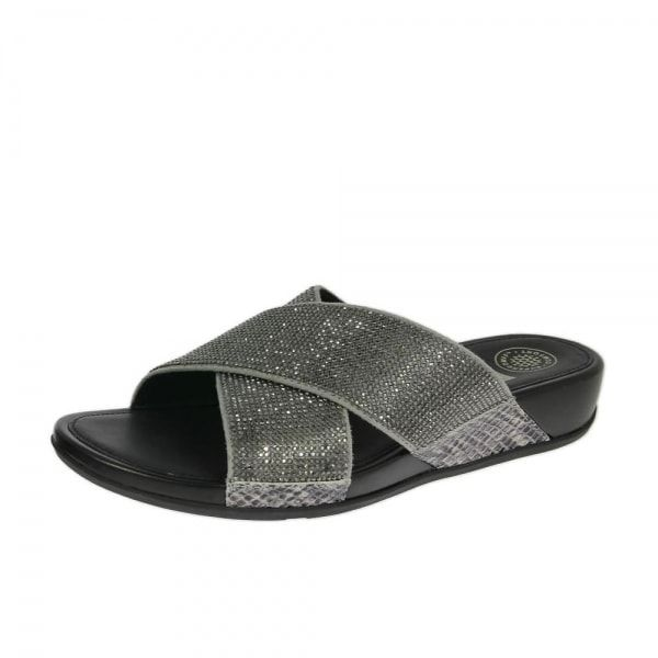 Pewter Fitflop Women'S Slide Crytstall