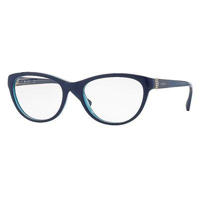 Oculos De Grau Vogue Acetato Azul Marinho Vo2938b2388 Oculos