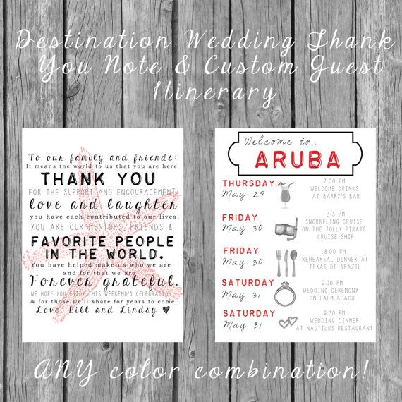 SET OF 20** Destination Wedding Welcome Bag Letters AND Guest ...