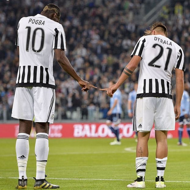 Image result for Paulo Dybala with Paul Pogba