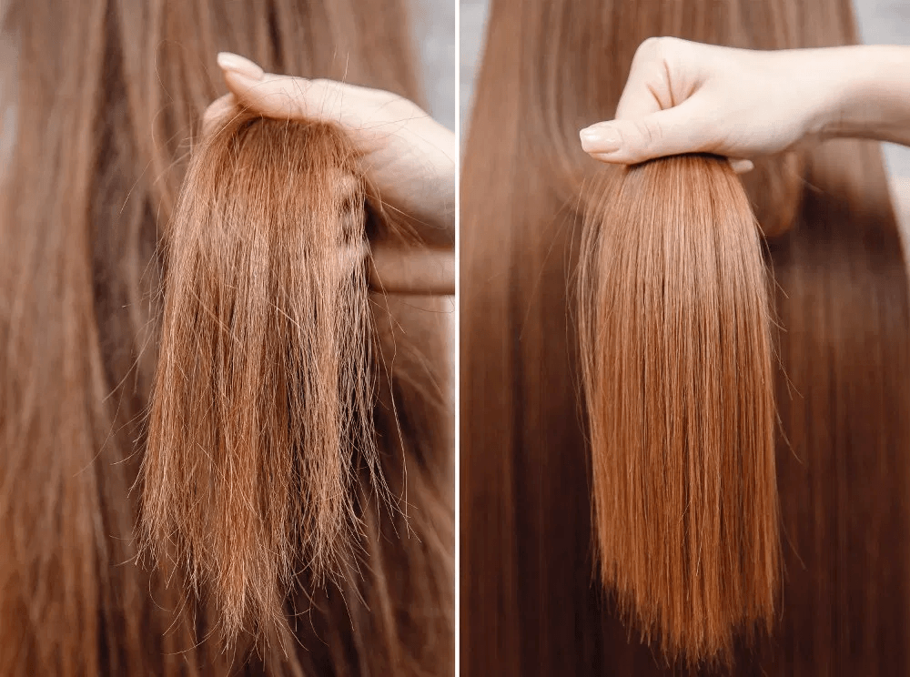 Looking For Ways To Fix Dry Damaged And Frizzy Hair We Ve Compiled The Best 10 Home Remedies For Dry An Keratin Hair Treatment Herbal Hair Keratin Treatment