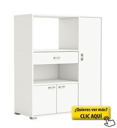 Mueble auxiliar para cocina con tres puertas y un... #mueble #cocina ...