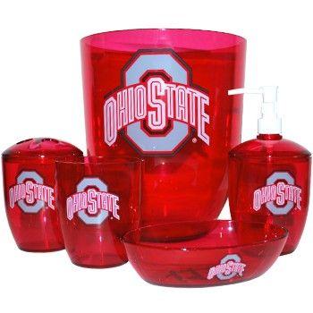 Bon Ohio State Buckeyes 5 Pc. Bathroom Set   Everything Buckeyes   OSU Fan Shop