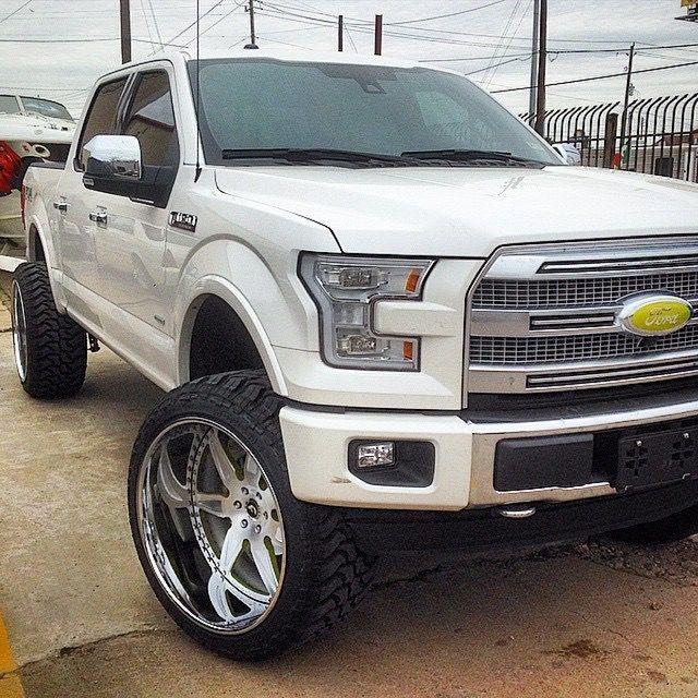 F150 Platinum Platinum: 2015 Ford F-150 Lifted W/ Some Custom Deep Dish Chrome