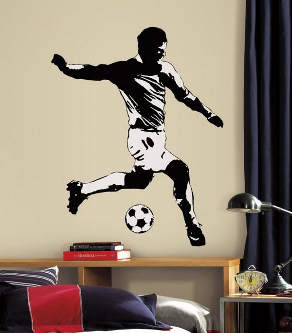 Boys Room Decorating Ideas Soccer Wall Murals Design For Boys Part 15