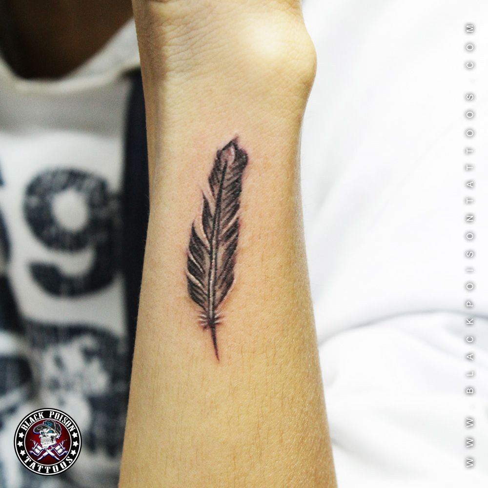 3 Arm Wrist Feather Tattoo 3 Feather Tattoo Feather Tattoo Arm Feather Tattoos