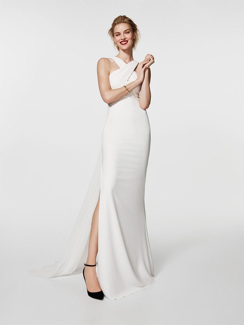 envio GRATIS a todo el mundo estilo moderno forma elegante Gresal vestido blanco vaporoso con espalda al aire y ...