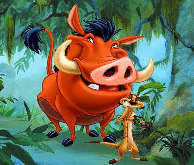 Timon And Pumbaa Timao E Pumba Desenhos Animados Personagens