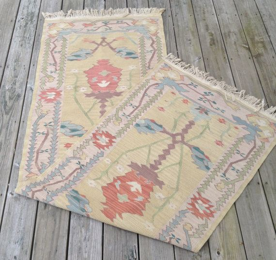Antique Dhurrie Wool Rug Antique Runner By