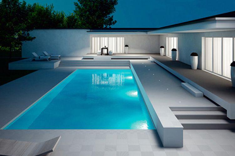 Pin von laluce licht design chur la auf - Schwimmbad architektur ...