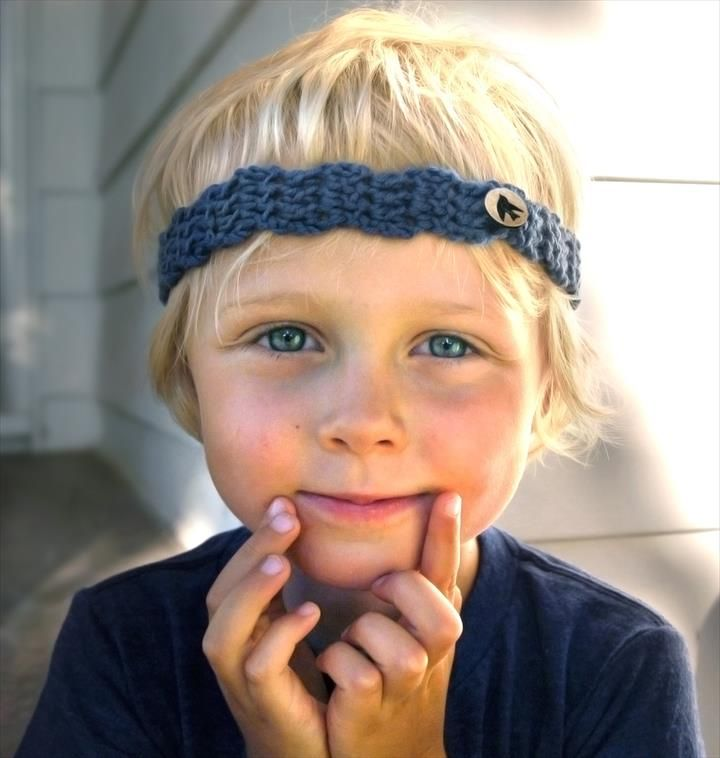 25 DIY Kid\'s Headband For Warmer Winter Days