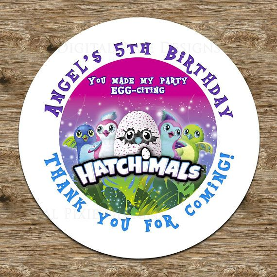 Personalized birthday party matte sticker labels or digital party labels printed printed on a matte round stickers proof is sent via email you ha