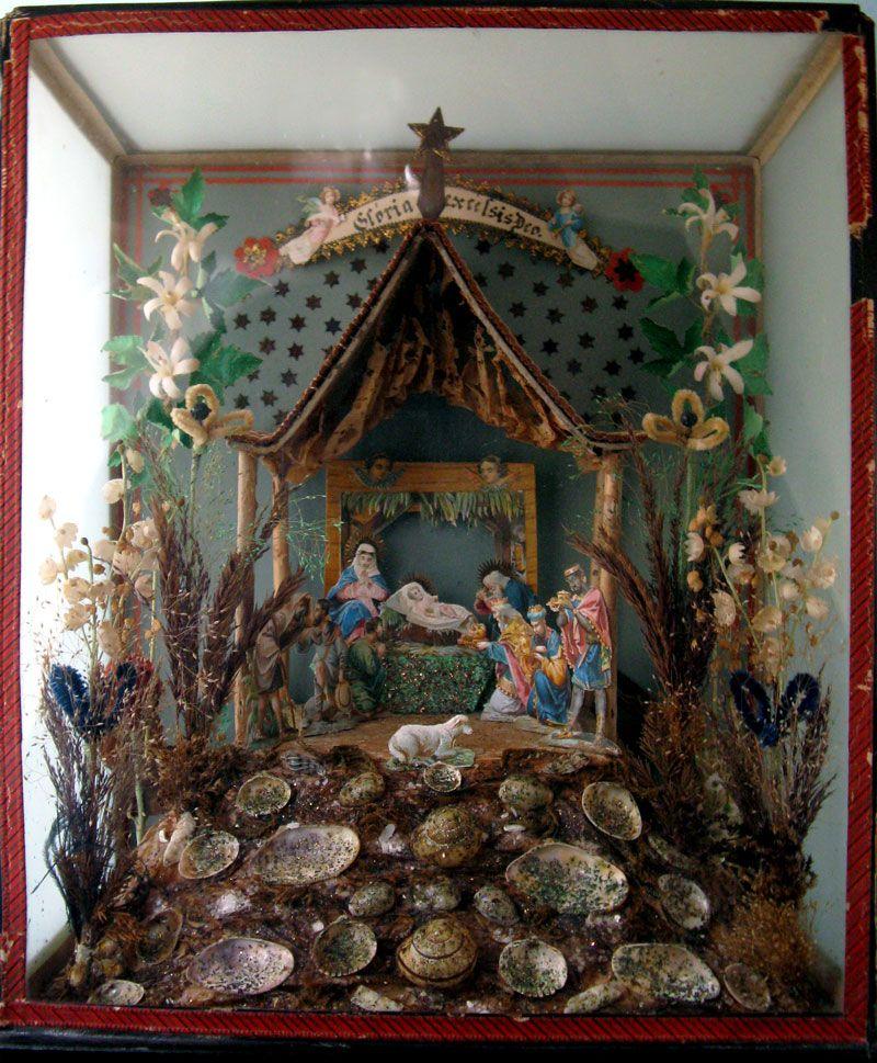 Vintage nativity diorama nice pinterest nostalgische for Nostalgische weihnachtsdeko