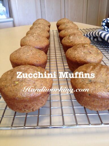 Handiworking: Zucchini Muffins Recipe - moist, flavorful, delicious!
