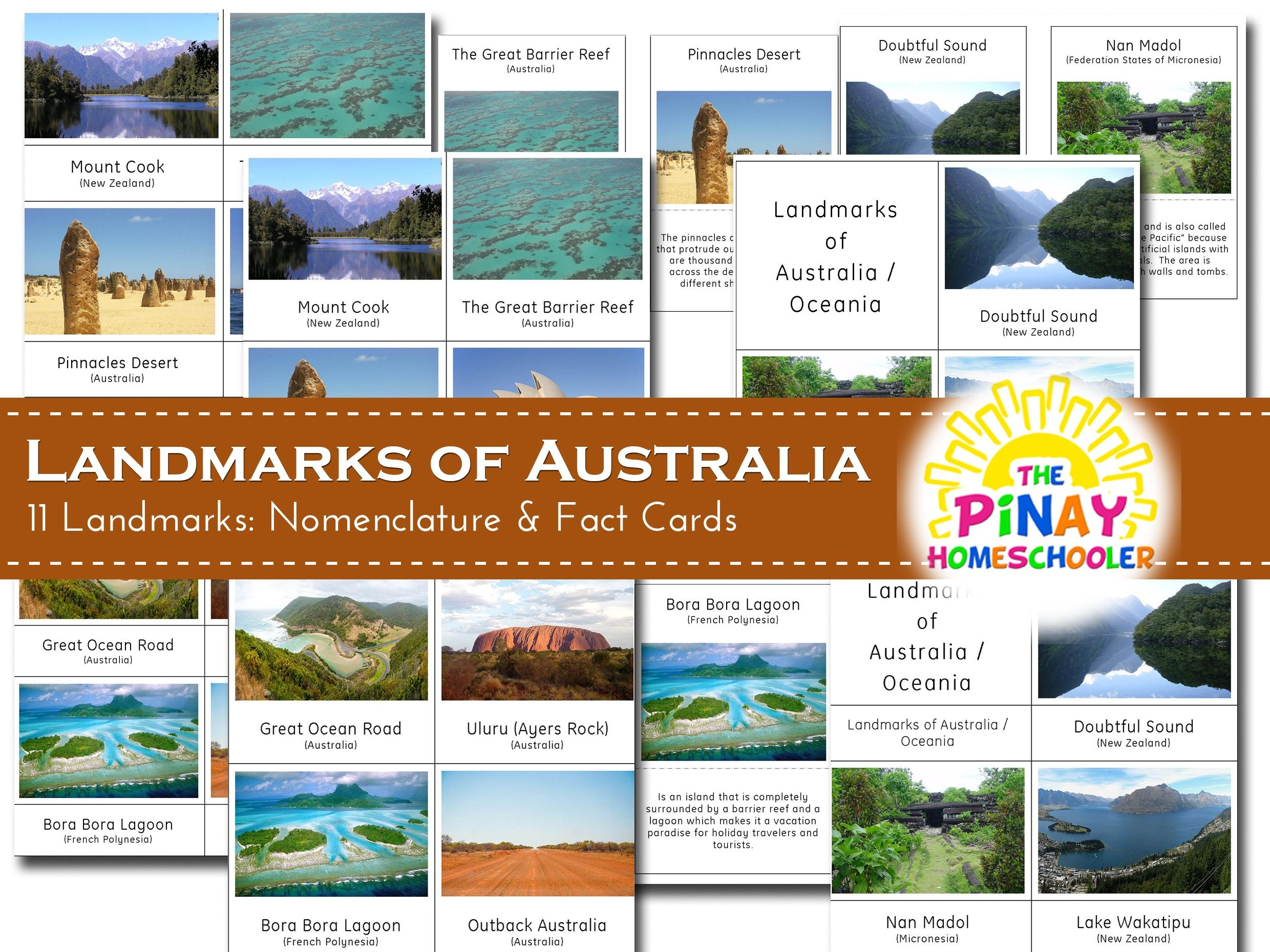 This File Has 11 Landmarks Of Australia Oceania It