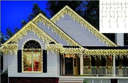 Outdoor christmas icicle lights 300 count heavy duty roof hanging outdoor christmas icicle lights 300 count heavy duty roof hanging curtain decor holidaytime300 aloadofball Choice Image