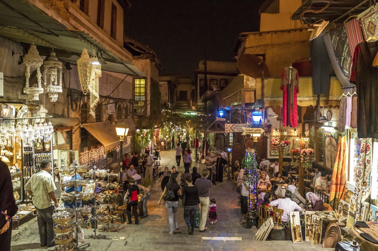 Citylandscapes The Old City Of Damascus By Night Al Nawfara