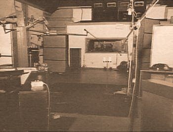 Interior of Owen Bradley's Quonset Hut Studio, Music Row, Nashville, TN