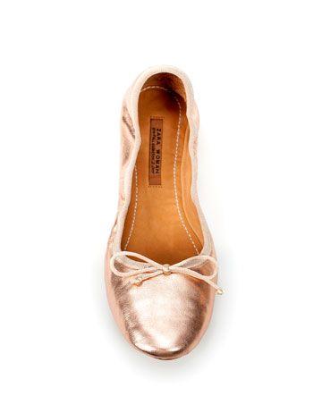 zara metallic ballerinas