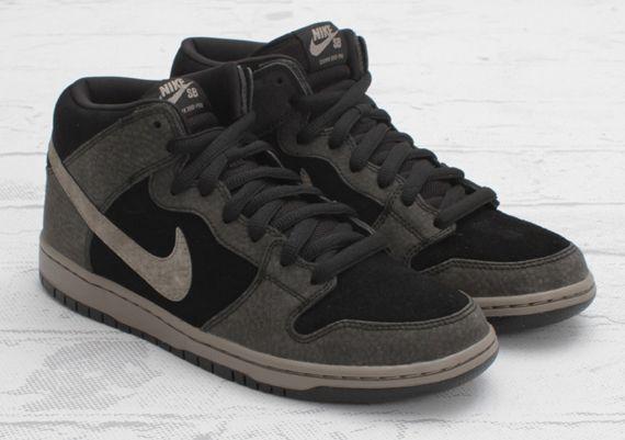 Nike SB Dunk Mid - Black - Iron - White | Apparel | Sneakers nike ...