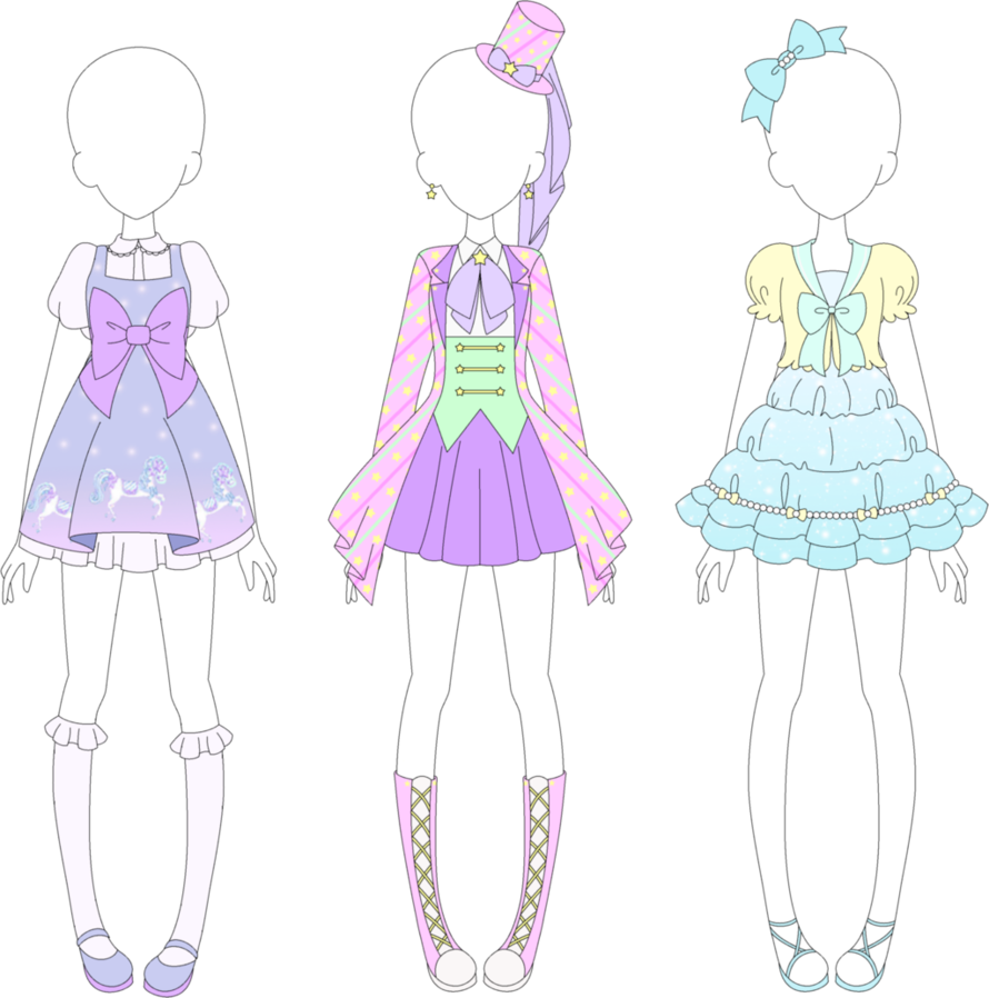 New coords for my Aikatsu fan brand, Fairy Kei yay This