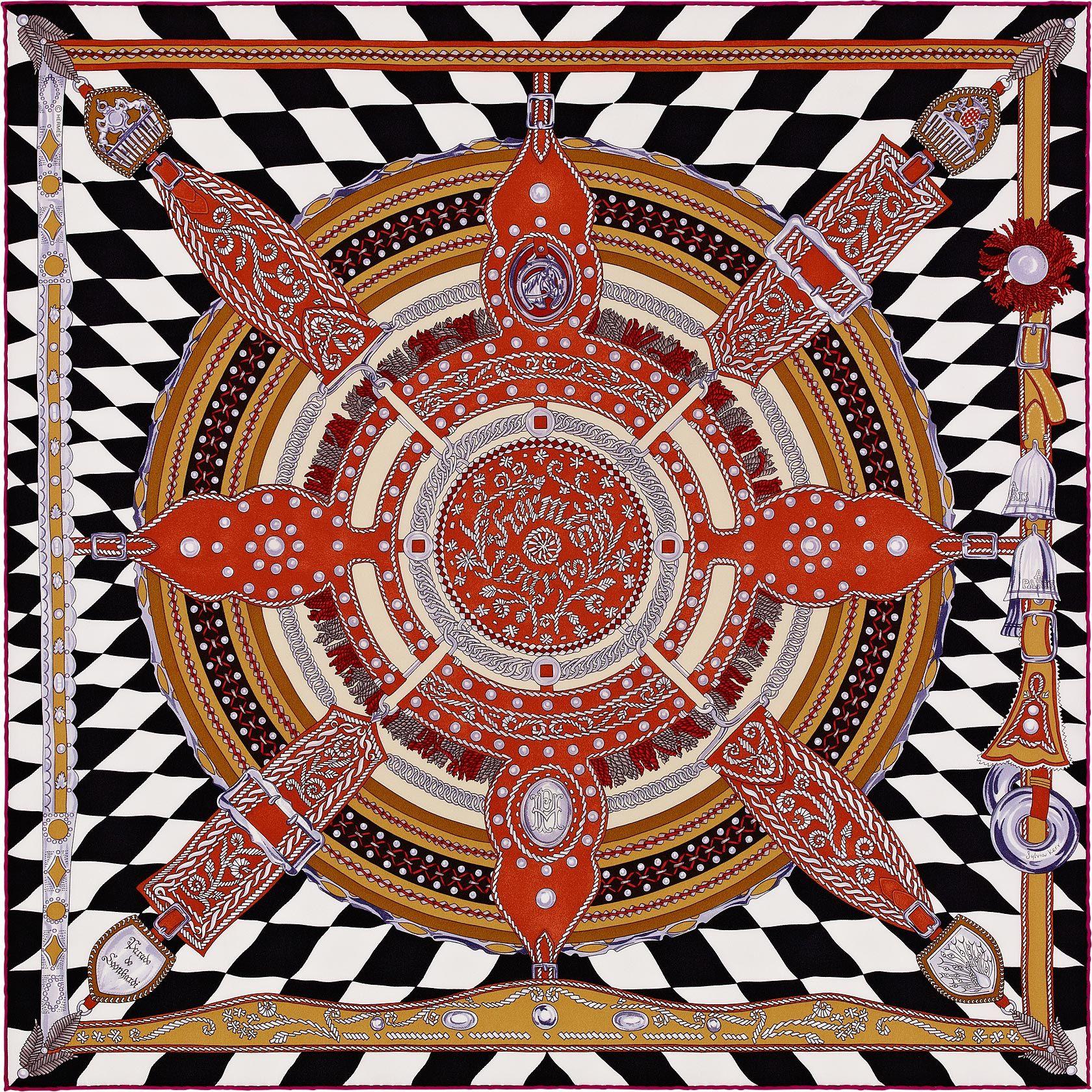 La Maison Des Carres Hermes Parade De Leonhardi Hermes Scarf Vintage Silk Scarf Colorful Prints