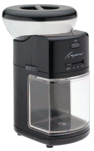 Capresso 551 01 Burr Coffee Grinder Black Http Teacoffeestore Com Capresso 551 01 Burr Coffee Grinder Black