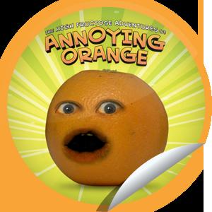 Steffie Doll S The Annoying Orange Sticker Getglue Annoying Orange Orange Annoyed