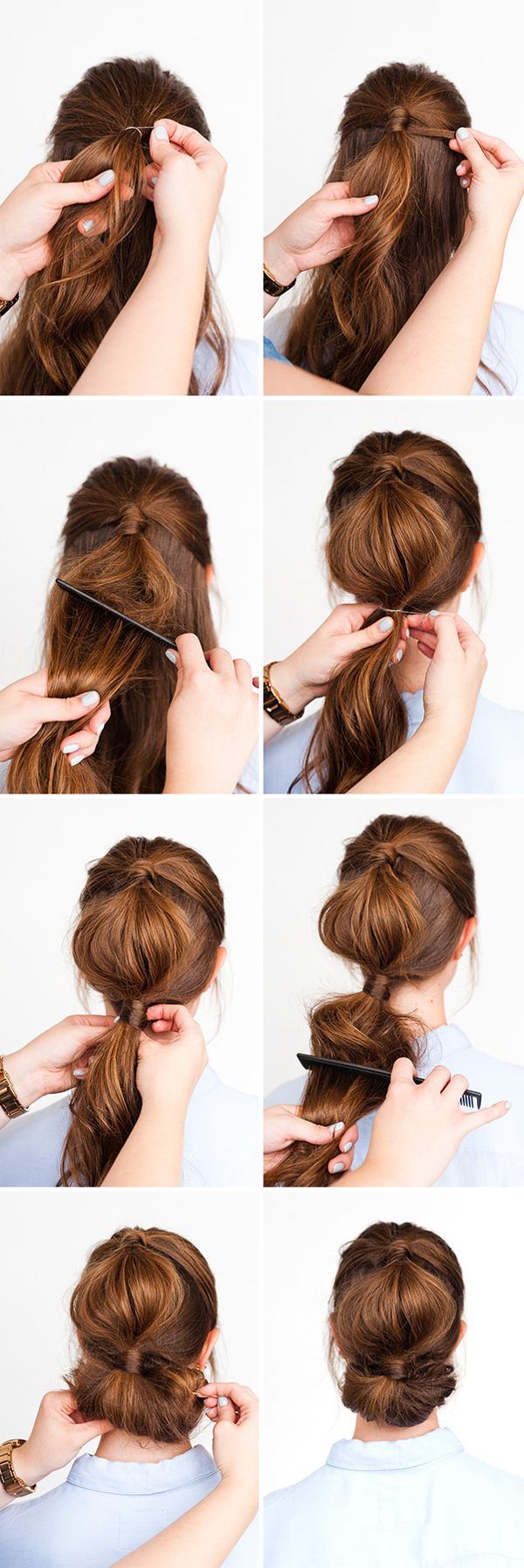 Simple Holiday Hair Two Ways In 10 Minutes Holiday Hairstyles Long Hair Styles Diy Hairstyles