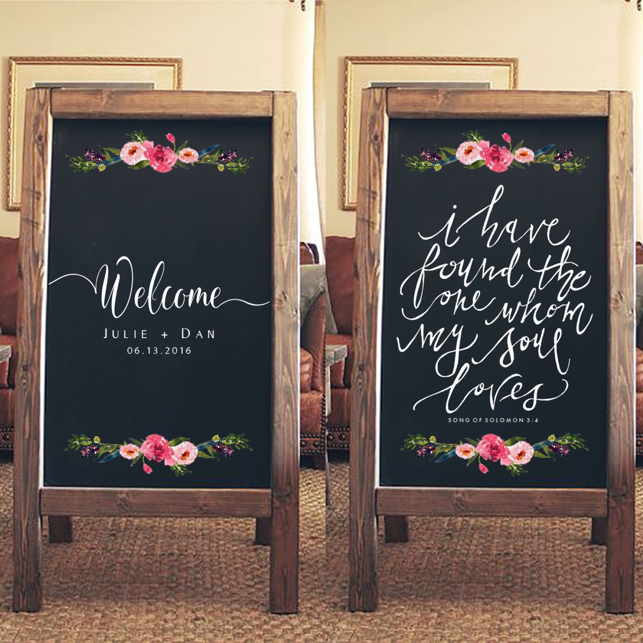 Rustic wedding sign welcome to our wedding sandwich board i have found the one whom my soul loves