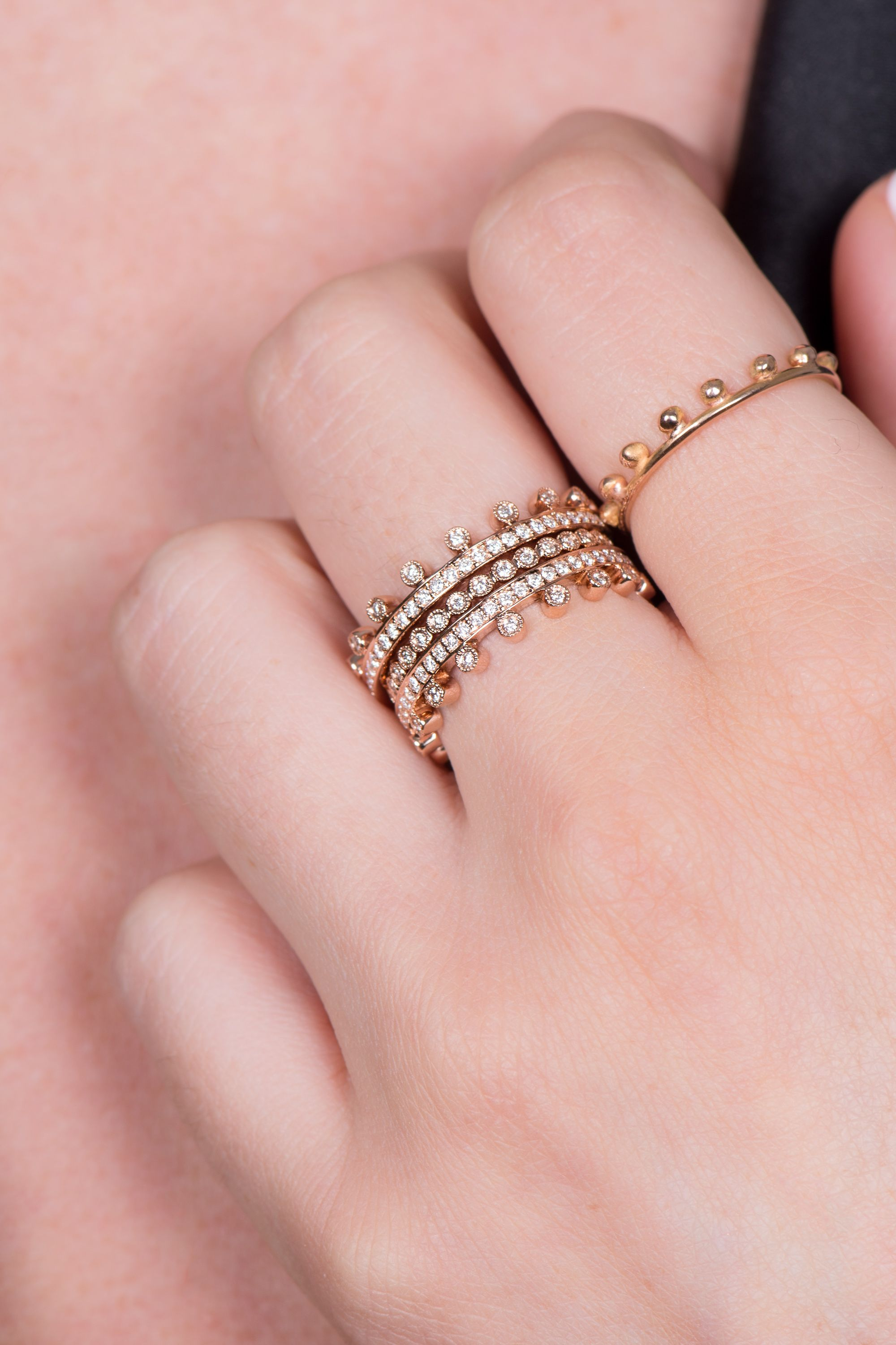 Anna Inspiring Jewellery Ring DIANA in Crown form in 18 ct. Rose ...