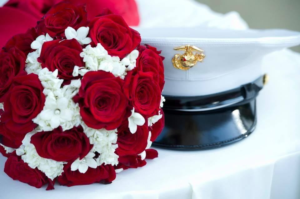 Marine Corps Wedding Bouquet Ideas | Commissioned Officers In The Bridal  Party. This Is Exactly How I See It :) | Wedding Decor | Pinterest | Marine  Corps ...
