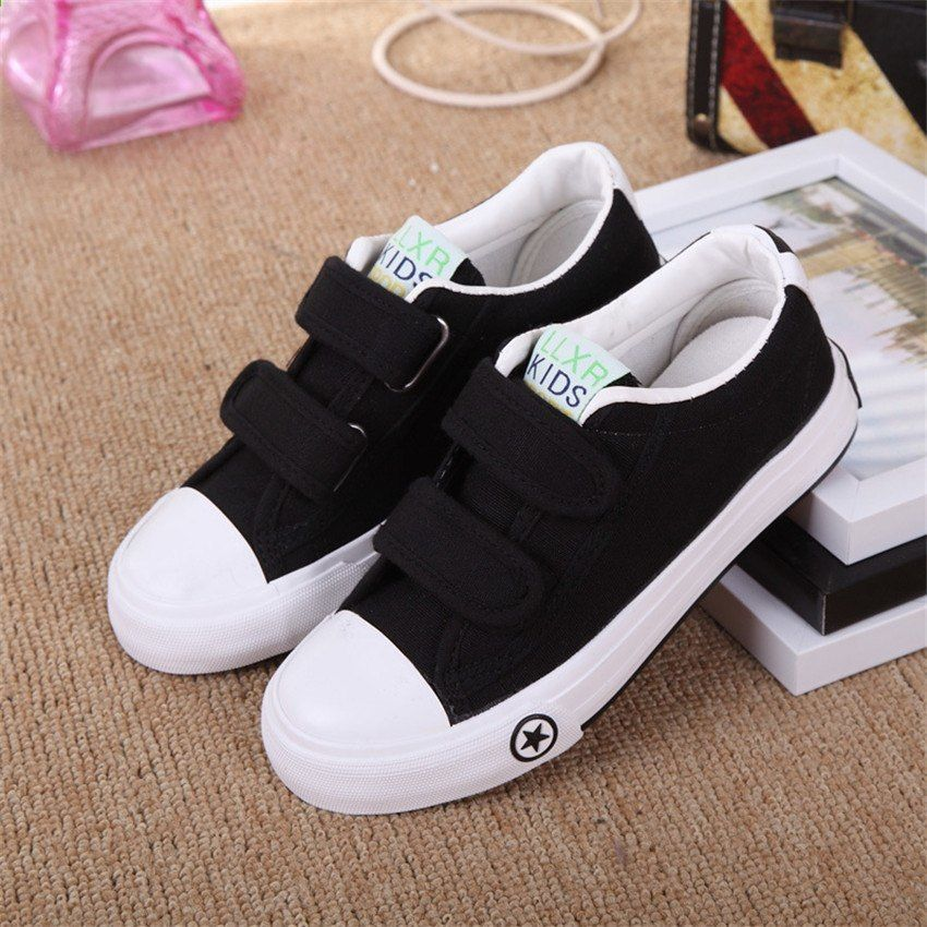 Boken Wiosna Jesien Dzieci Jednolity Kolor Obuwie Dziewczece Chlopcy Wygodne Miekkie Dno Brezentowe Buty Moda Dzieci Kid Shoes Trainers Girls Boys Canvas Shoes
