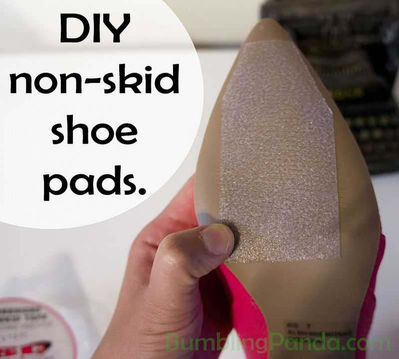 Diy friday nonslip shoe pads with traction tape