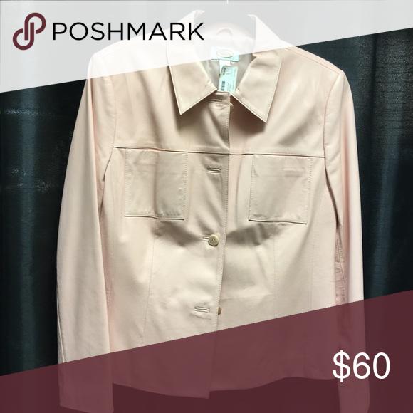 Leather jacket Vintage soft pink jacket Jackets & Coats Blazers