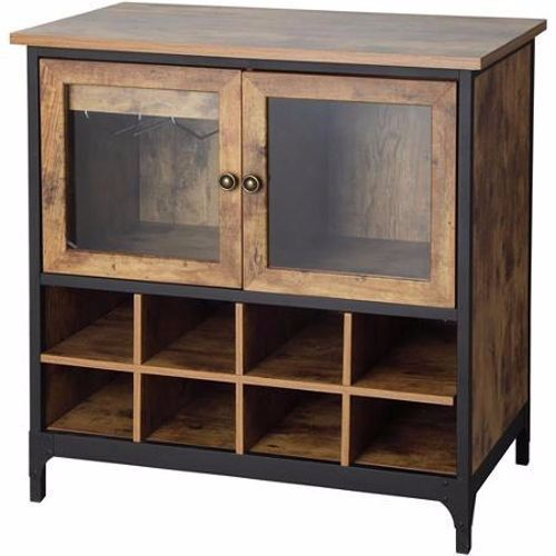 Wine Cabinet Rack Storage Wood Organizer Botte Glass Holder Bar Decor Furniture #WineCabinet